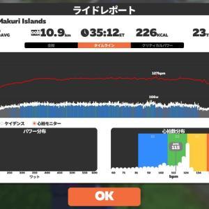 6/14 Zwift35分@つなぎ練習