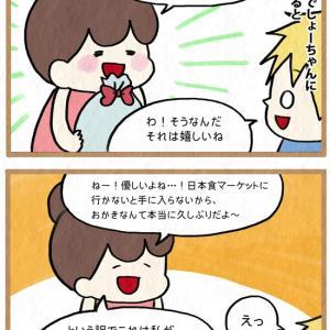 久々の日本のお菓子