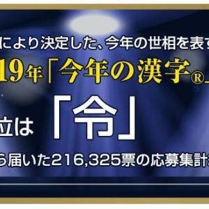 12月12日:2019年「今年の漢字」決定!