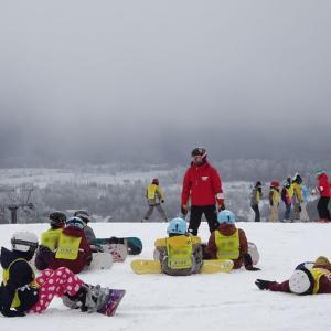 北本東中学校スキー教室1日目 -5℃でも元気に!