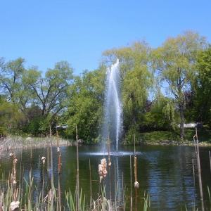 霊園にある噴水