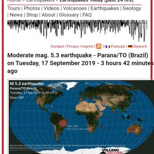 ブラジルのパラナでマグニチュード5.3 #地震 #速報