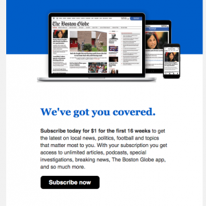 ボストン・グローブはんからのお誘い35回目 #新聞 #課金