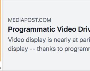 英国の広告出稿額増加を牽引しているのはプログラマティック・ビデオなんだって #広告