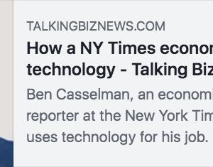 ニューヨーク・タイムズの経済部記者は、テクノロジーをこんな風に使ってるんやって #新聞 #メディア