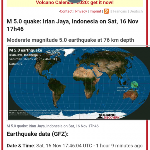 インドネシアのイリアンでマグニチュード5.0 #地震 #速報
