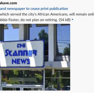 アメリカ・オレゴン州ポートランドの新聞が休刊 #新聞
