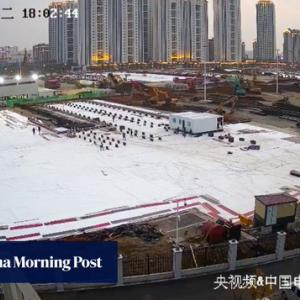 切なすぎる話。1800万もの中国人民が、武漢に目下建設中の新型ウィルス治療専門病院のライブ配信を視聴してるねんて #新型ウィルス #コロナウィルス