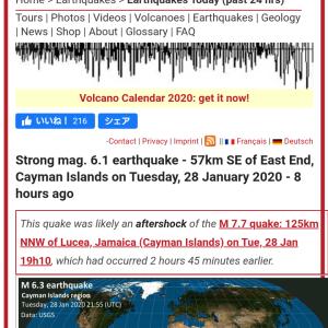 ケイマン諸島南東でマグニチュード6.1。キューバ地震の余震か #地震 #速報