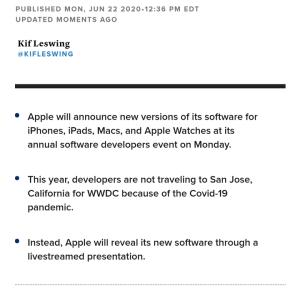 アップル、インテルから自社チップ乗り換えへ #アップル #速報