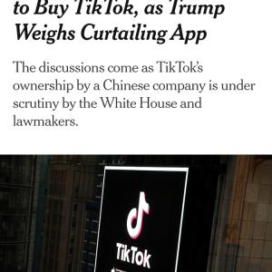 マイクロソフト、TikTok買収の協議中 #Tik Tok #速報
