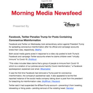FB、Twitterが相次いでトランプ大統領の投稿を削除もしくはアカウント停止 #ソーシャル・ネットワーク #トランプ