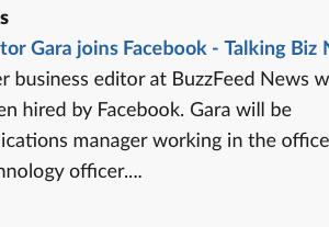 元バズフィードのアメリカ本国の経済担当編集者、フェースブックに転職 #バズフィード #フェイスブック