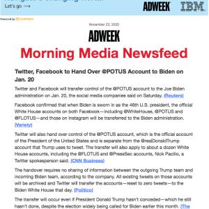 Twitterとフェースブック、2021年1月20日を以てバイデン氏を大統領扱いに #ソーシャル・メディア