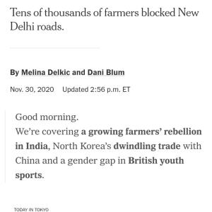 小ネタでおま。NYTを定期購読するようになったら、こんなニュースレターを #新聞