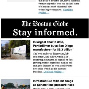 2021年のボストン・グローブはんからのお誘い167回目 #新聞 #課金