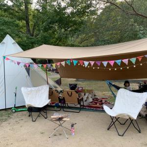 キャンプでホームシアター