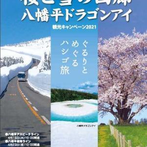 【県央】〔もりおか・八幡平エリア〕桜と雪の回廊 八幡平ドラゴンアイ