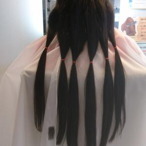 中学生のヘアドネーション