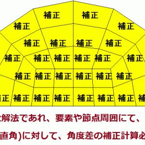 どんな手法も、90度との角度差を補正する計算必須で注意 (メッシュ依存の元) (偏微分の宿命)