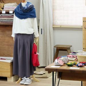 店頭のお洋服が…なーーーーい。播州織でtsujiパンツ製作中