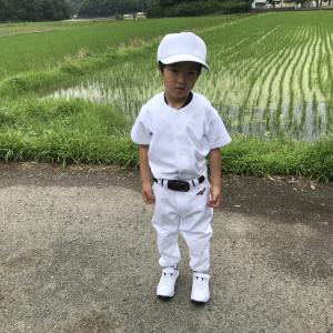 三男少年野球デビュー