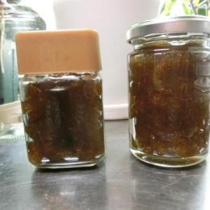 梅シロップが出来上がり、取り出した梅でジャムを作る/鉢植えパイナップルのその後