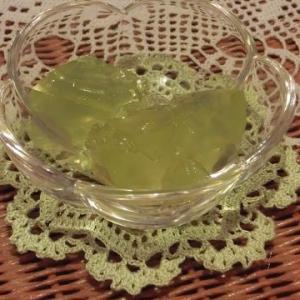 残りの冷凍梅をシロップ漬けに/梅シロップのゼリー(松葉ジュースのゼリーも)/ビーポーレンアイスのショコラ