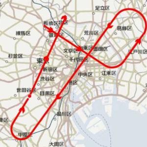 ブルーインパルス東京上空飛行