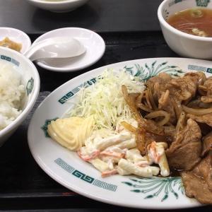 【日高屋 国分寺南口店】 で 夕食は、しょうが焼き定食。