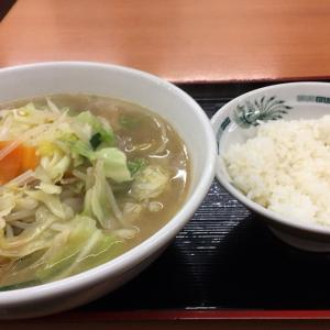 【日高屋 武蔵小金井南口店】で遅い夕食は「野菜たっぷりタンメン」