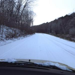Driving on the snow