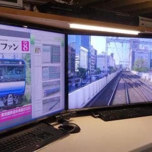 PC机上にNゲージ動作確認用の線路を敷設