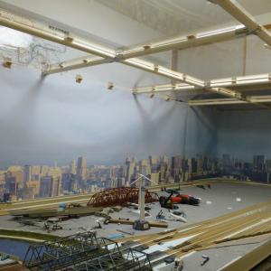 鉄道模型レイアウト背景の交換を考える