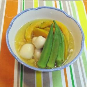 七夕の節句 小暑  かぼちゃと小芋の冷やし鉢