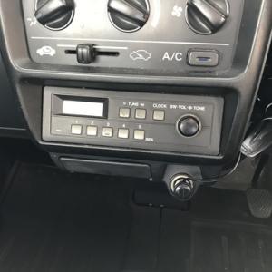 ホンダ アクティトラック(HA7) 純正デッキから社外デッキへ交換