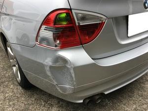 BMW 3シリーズツーリング(E91)修理 リアバンパー、テールランプ交換
