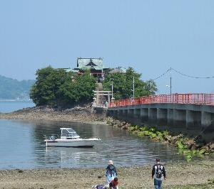 津島ノ宮神社と駅