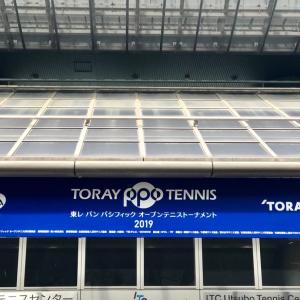 初テニス観戦@東レパンパシ