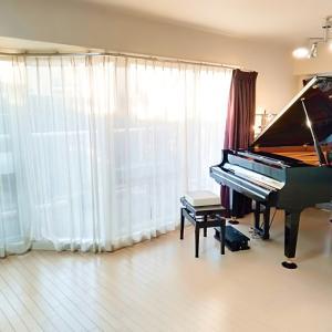 リビングのグランドピアノ 移動しました...♪*゚