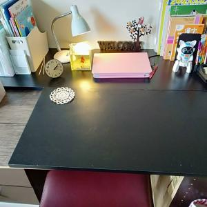 リギング学習はとりあえずやめてみてお仕事部屋に学習机をこしらえました~カラーボックスで机~