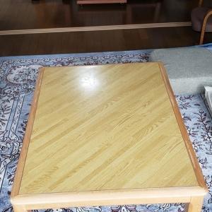 テーブルの色褪せ