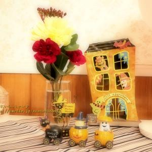 ハロウィンとお花とチョコレート