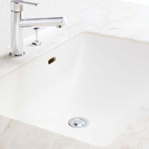 ◆アイカ工業のメラミン化粧板で洗面カウンター造作
