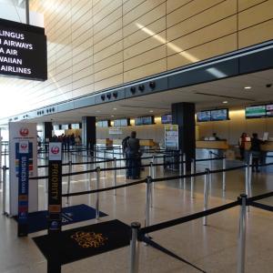 JAL シアトル空港利用ラウンジ 変更アナウンス