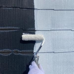 松戸市の外壁塗装の現場より〜屋根の下塗り〜