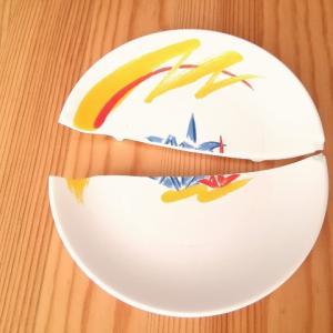 ■皿の破片は2M飛んだ