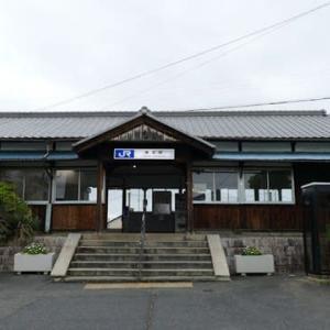 桜井線の古い駅舎 (奈良県) 櫟本駅・畝傍駅