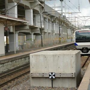 新白河駅 (福島県西郷村)ホーム中央に車止め