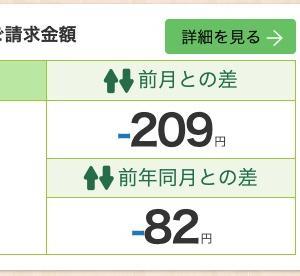 2020年6月分の電気ガス料金